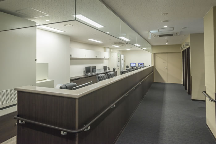 陽子線センター内の写真